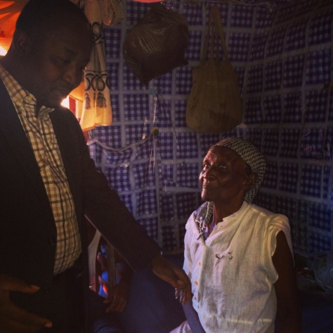 Willio introduces us to the grandmother who raised him.  She does not know how old she is, but somewhere in her mid-80's, which is very rare in Haiti.