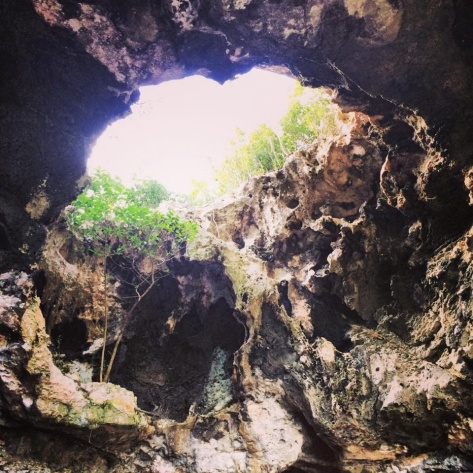 Holes add to the beauty in Preacher's Cave