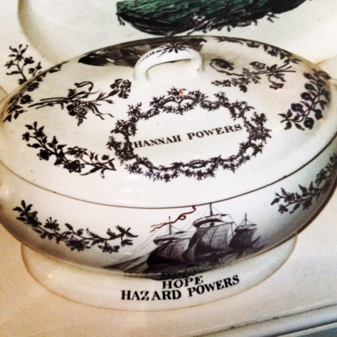 China belonging to Hannah Powers with her husband Hazard Powers ship, The Hope
