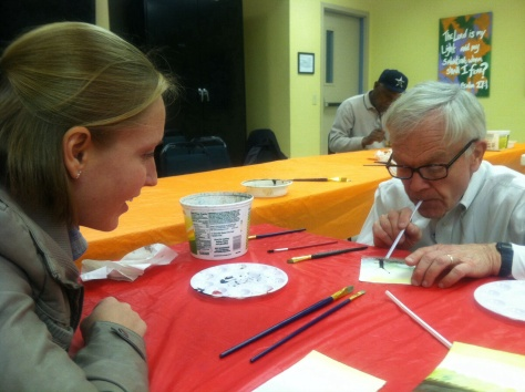Joe Synan teaches his weekly free watercolor class through The Art Project