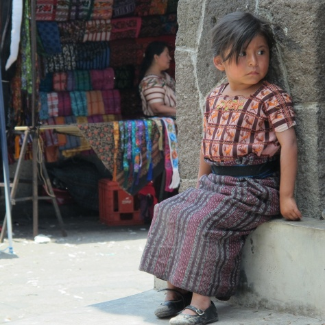 One of the children of Santiago Atitlan