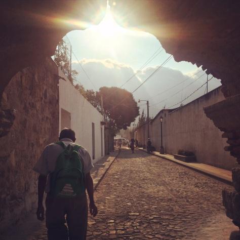 Man walks home in Guatemala