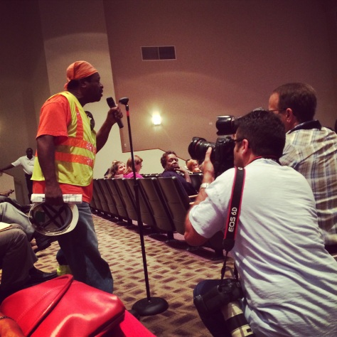 First Ferguson City Council meeting since shooting of Michael Brown.