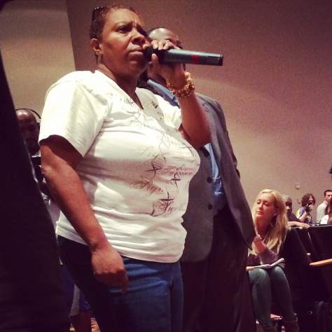 """""""For me, it's not about black and white anymore, it's about right and wrong. Whatever you do about Darren Wilson i going to affect the whole country - we didn't want that - we just wanted an apology!"""""""