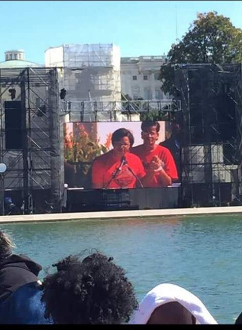 Mrs. Sharon Cooper speaks at the 20th Anniversary of the Million Man March